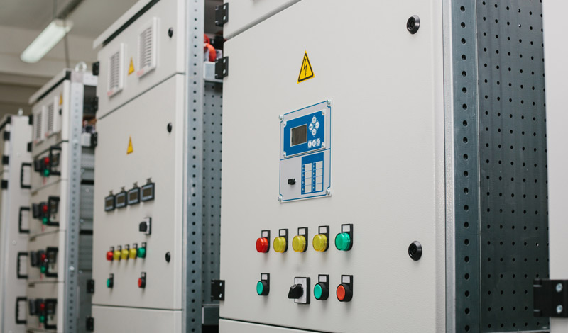Photograph of Relay Cabinets